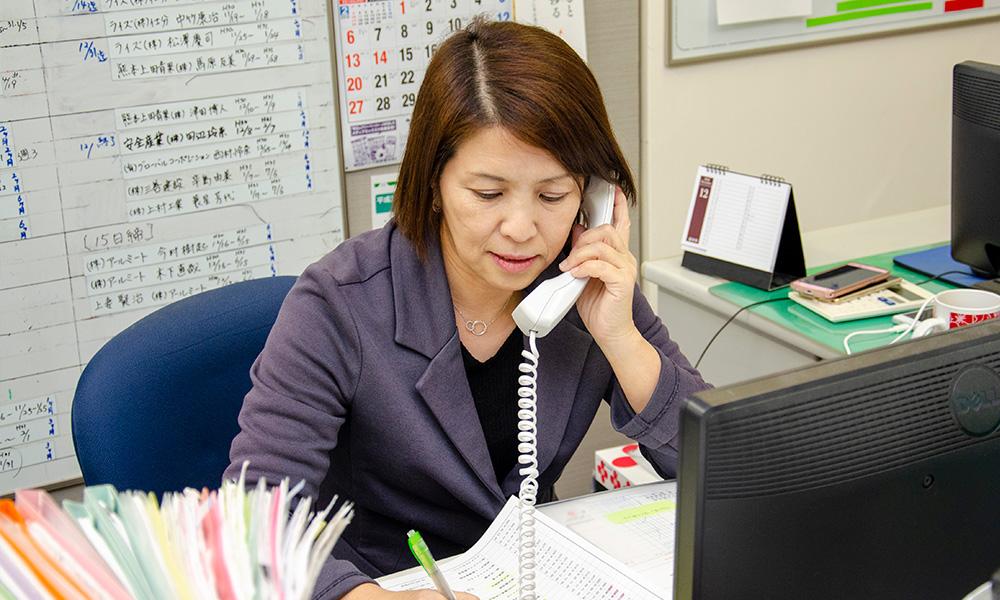 中川富貴子さん 電話の様子