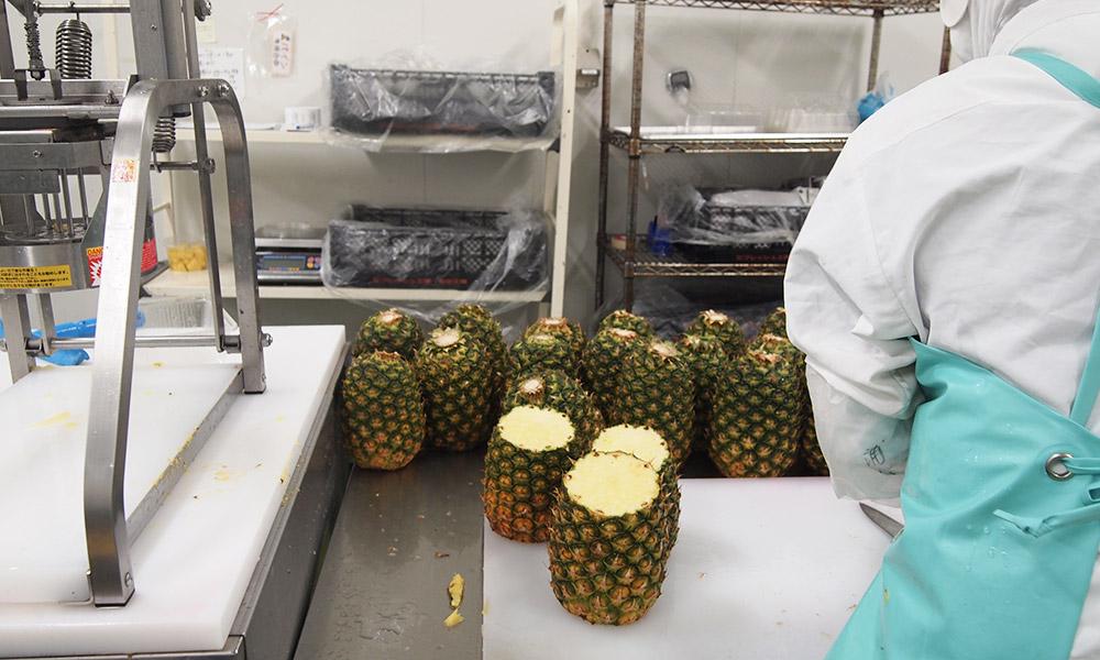 パイナップルの加工